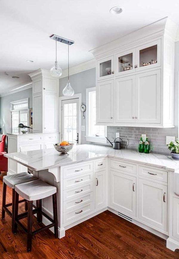 Elegant White Kitchen Design Ideas For More Comfortable ...