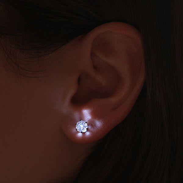 Pendientes de cristal con LED integrado