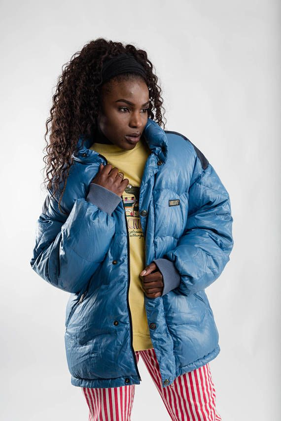847e466f4 Vintage blue oversized Millet puffa jacket / Down puffer jacket ...