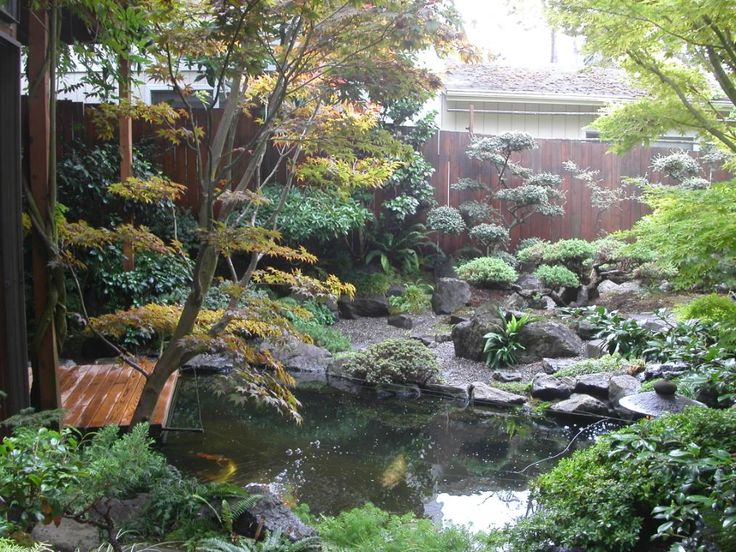 Japanese gardens have always been conceived as a representation of a natural setting.
