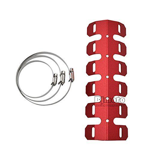 Universal Motorcycle Exhaust Muffler Pipe Heat Shield Cover Guard https://www.amazon.co.uk/dp/B06XGWWKQ7?th=1