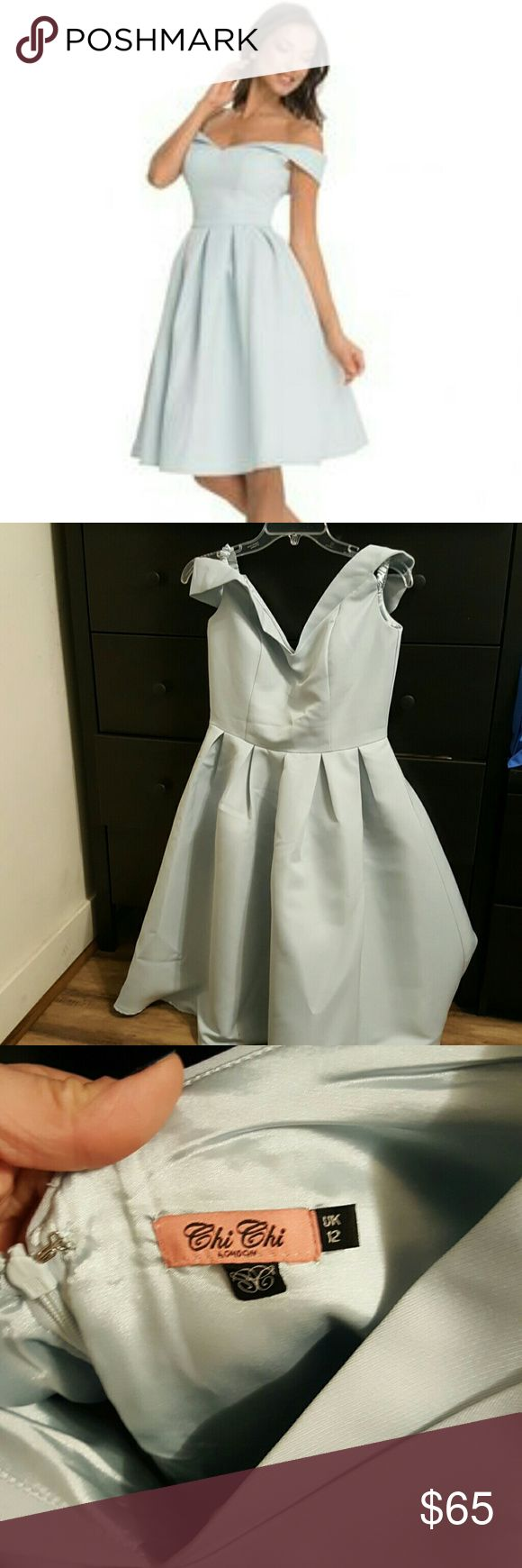 ONLY TODAY SALE  Gorgeous ASOS DRESS Very pretty baby blue dress ...worn only ones...size 8 in us sizes ASOS Dresses Midi