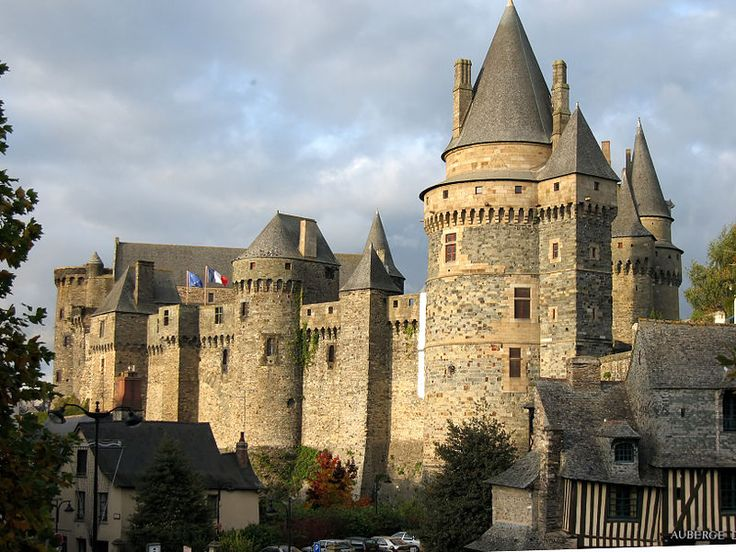 Château de Vitré ~ Vitré ~ Ile-et-Vilaine ~ France ~ The first castle in Vitré was built of wood on a feudal motte around the year 1000 on the Sainte-Croix hill.  A medieval castle built of stone at the end of the 11th century by Baron Robert I. Brittany.