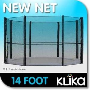 14ft-for-8-POLE-REPLACEMENT-OUTDOOR-TRAMPOLINE-SAFETY-NET-ENCLOSURE