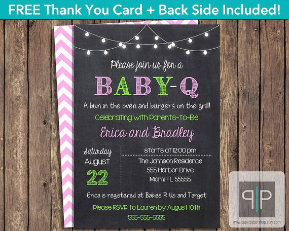 INSTANT DOWNLOAD, Baby-Q Invitation, Editable Printable Baby-Q Invitation, BabyQ Invitation, BBQ Girl Baby Shower Invitation, Adobe Reader