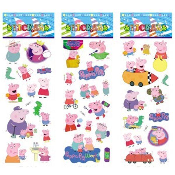 6 sheets/set maiale rosa adesivi per i bambini a casa decorazione della parete  Sul computer portatile mini animale sveglio 3d della decalcomania frigo skateboard  Doodle