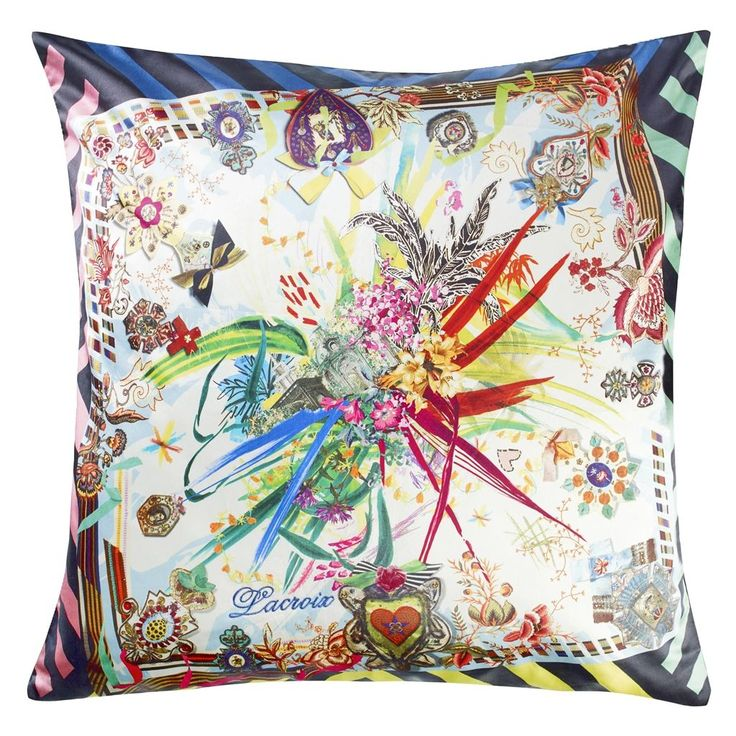 Rock And Versailles Multicolore Throw Pillow