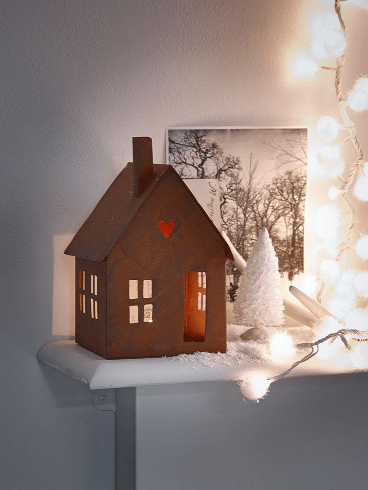 NEW Rusty House Tea Light Lantern - Gifts Under £20 - Gifts