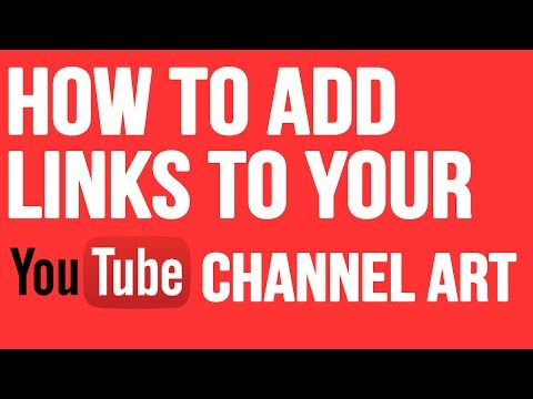 How to add links to your youtube channel art [2015] |Add Facebook , Twitter links to YouTube 2015 - YouTube