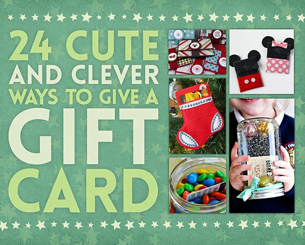 24 Cute And Clever Ways To Give A Gift Card.  Check out our Holiday Specials and save on gifts for everyone on your list!  http://www.camillecashmd.com/news/spa-specials.cfm