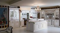 Traditional lacquered eco-friendly kitchen in wood (FSC Eco-label)