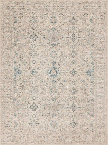 Joanna Gaines Rugs of Magnolia Home Rug Collection - Ella Rose Collection - EJ-04 BONE / BONE A modern interpretation of traditional Persian styles, the Ella Rose Collection is simultaneously vintage