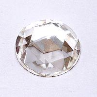České skleněné kameny kulaté krystal 18mm