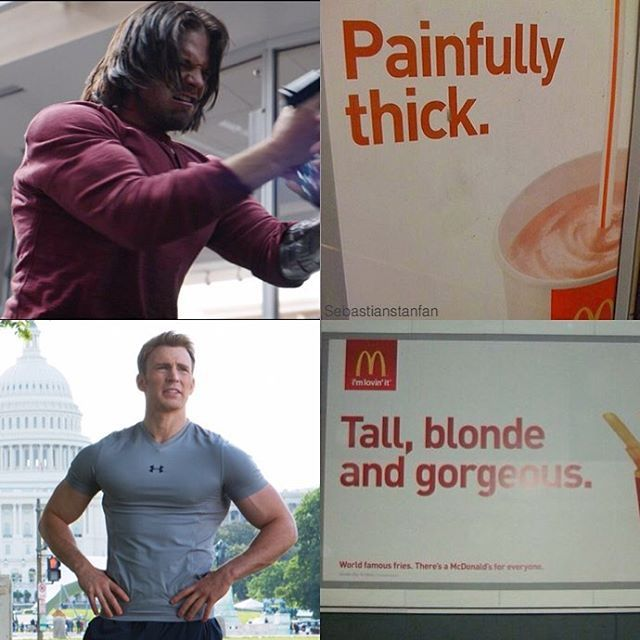 "6,302 Likes, 73 Comments - ♡ S E B A S T I A N ♡ S T A N (@sebastianstanfan) on Instagram: ""McDonald's knows what's up """