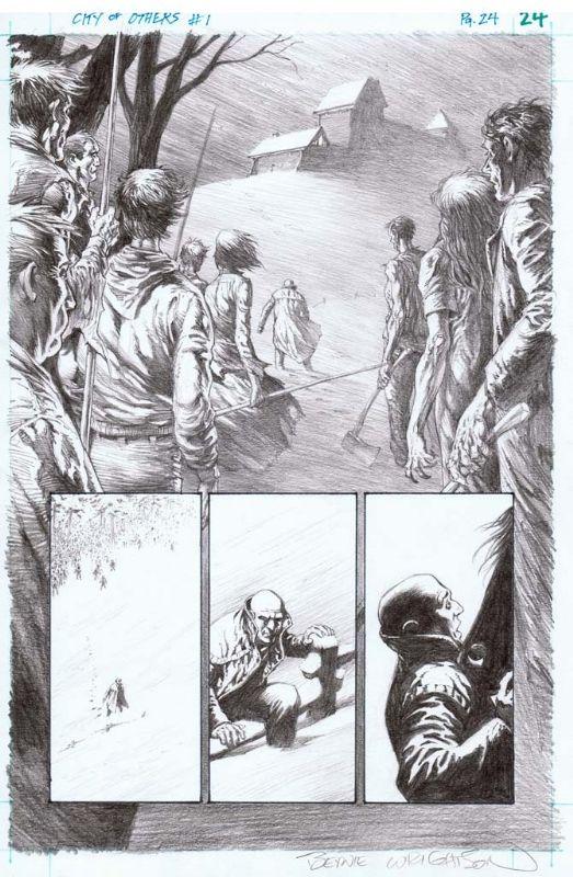 Bernie Wrightson - Ciudad de los Otros - iss. 1, Pg. 24 arte cómico