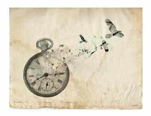 """I want to get a clock (or broken clock) tattoo with the words """"one of these days the clocks will stop and time won't mean a thing"""""""
