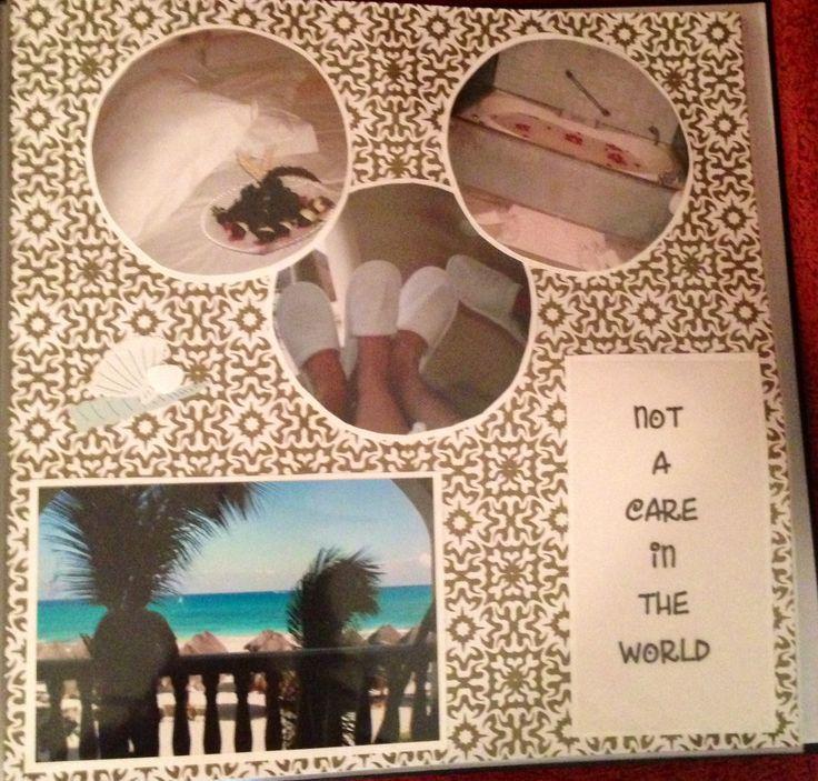 Honeymoon Scrapbook page