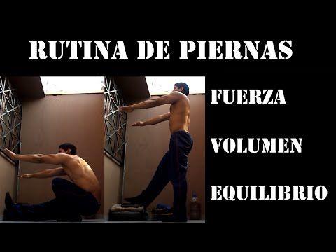 RUTINA DE PIERNAS - FUERZA Y VOLUMEN CON CALISTENIA - YouTube