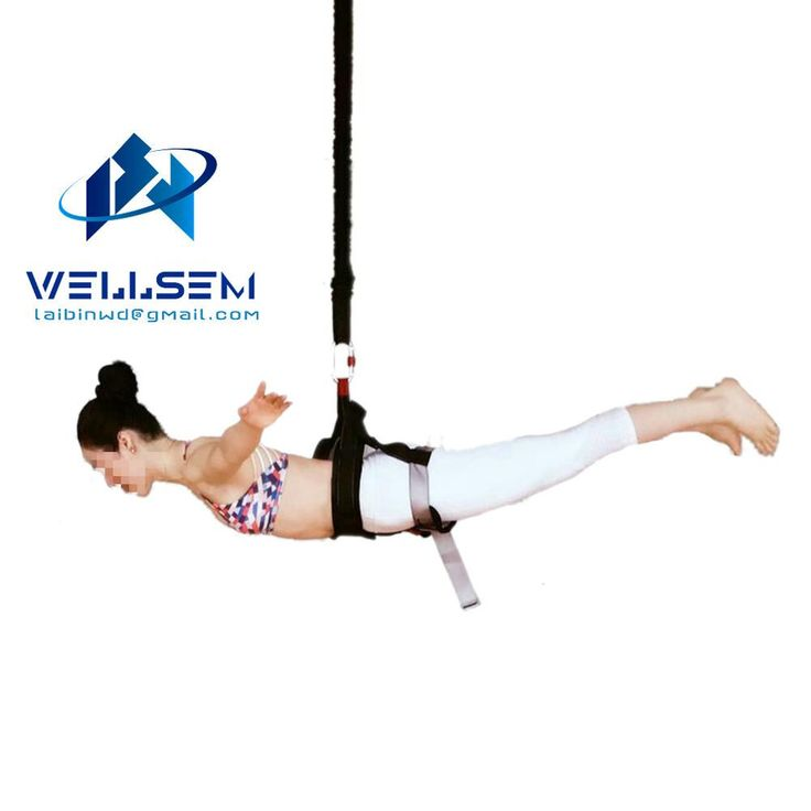 Wellsem  Bungee Dance Workout Fitness Aerial Anti-gravity Yoga Resistance Band Home Gym Equipment