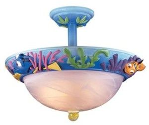 "Disney Nemo Bathroom or Bedroom 16 1/2"" Wide Ceiling Fixture 