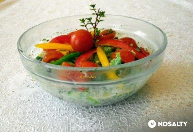 Mentás-görög joghurtos saláta