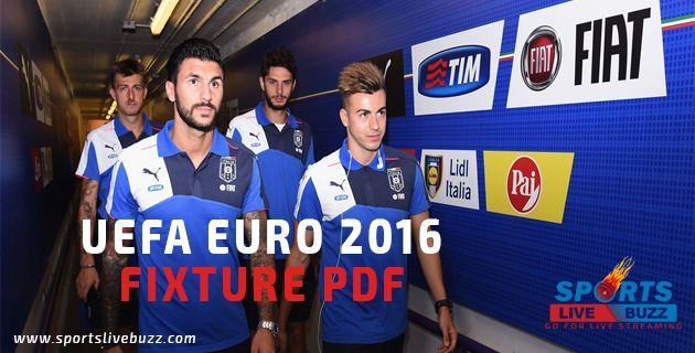 UEFA Euro 2016 Fixtures PDF Download