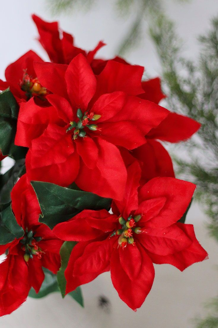 Shop All Artificial Poinsettias And Holiday Flowers From Afloral Com Now Photography Blessedtoinspir Christmas Flowers Holiday Flower Artificial Flowers