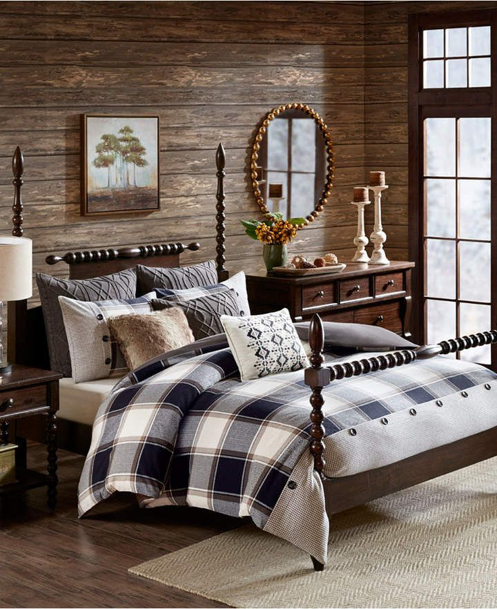 Madison Park Signature Urban Cabin Queen 8 Piece Cotton Jacquard Comforter Set