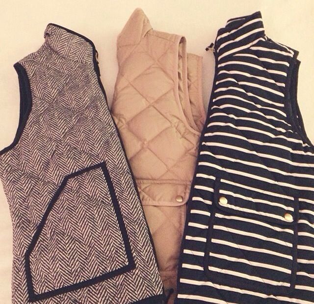 Great vests to pair with jeans!