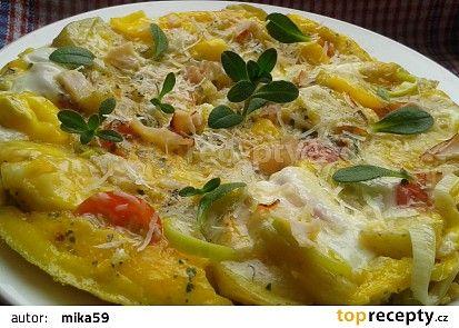 Bramborová omeleta s tvarůžky recept - TopRecepty.cz