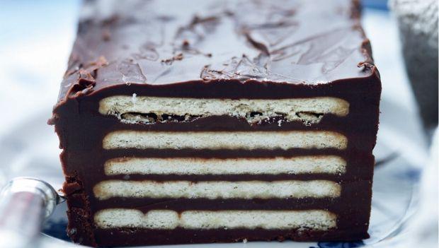 Kiksekage med mørk chokolade