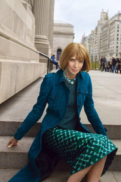 "Amy Larocca ""In Conversation With Anna Wintour"" NYMagazine, The Cut (4 May 2015). On the eve of the Costume Institute's largest exhibition yet, Anna Wintour sits down to talk about fashion, power, and anxiety. Photograph by Annie Leibovitz."