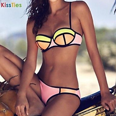 kissties®women의 여러 가지 빛깔의 스틸 소품 섹시한 맞춤법 색 수영복 – KRW ₩ 12,091