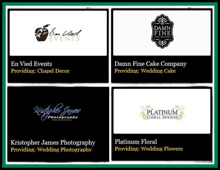 A Huge Thank You To The Following Exhibitors En Vied Events, Damn Fine Cake Company, Kristopher James Photography, Platinum Floral Designs