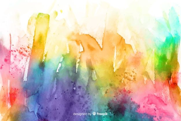 Download Abstract Hand Drawn Rainbow Lines Background For Free In