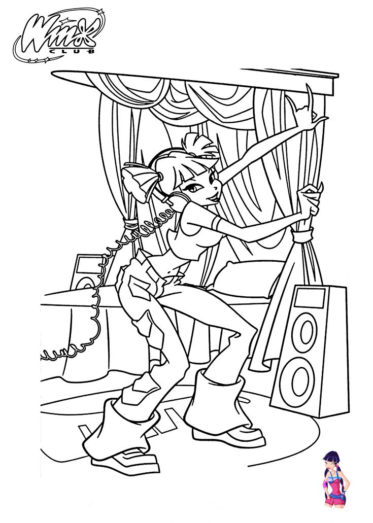Winx Club Musa Coloring Pages Sketch Coloring Page