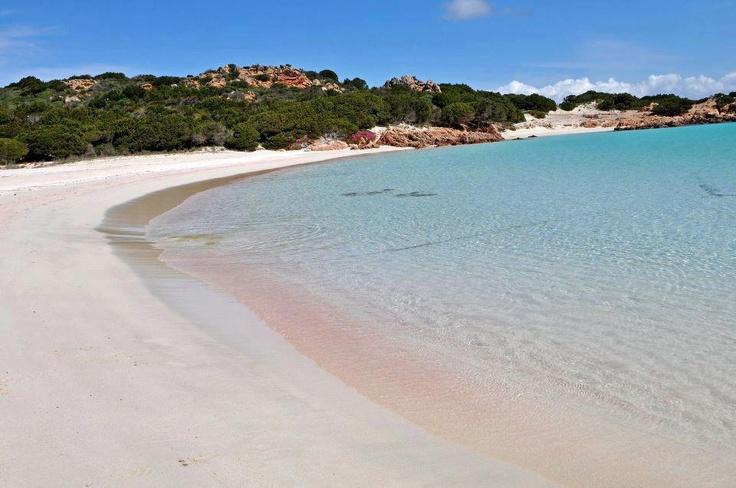Spiaggia di Budelli, con la sabbia rosa - Sardegna