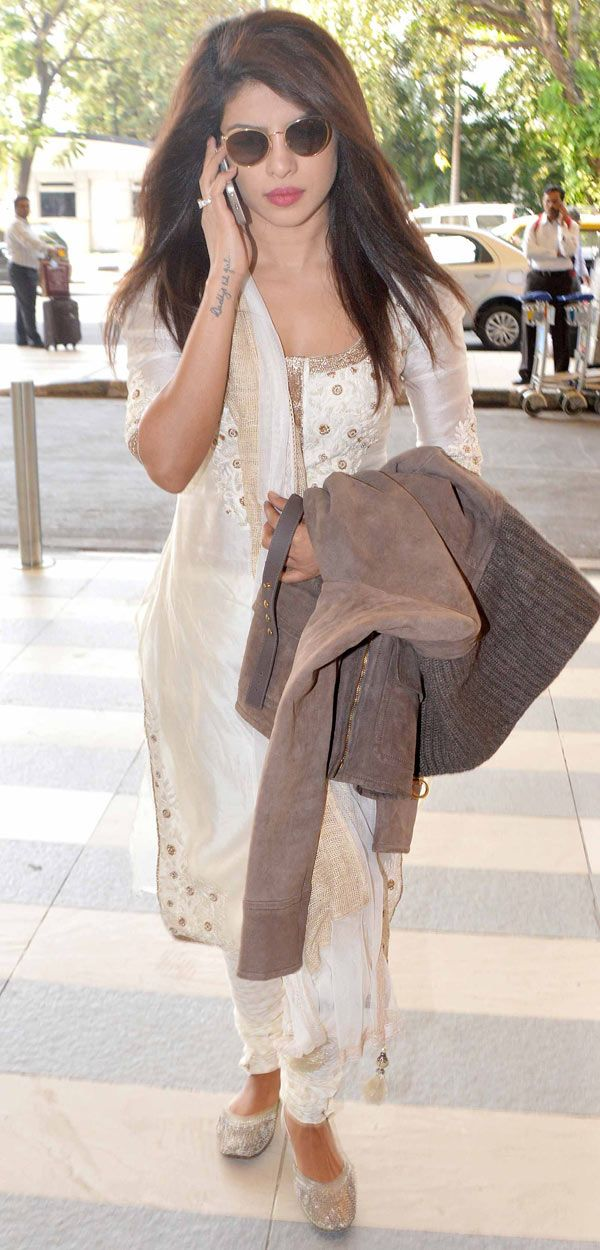 Priyanka Chopra spotted at the Mumbai airport.