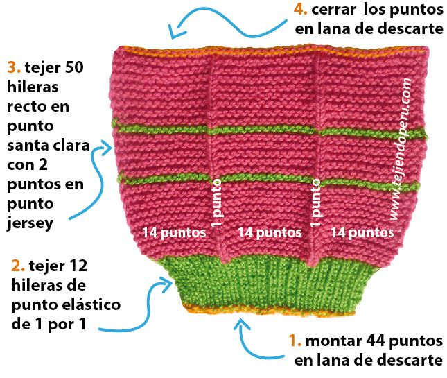Cómo tejer pantuflas en dos agujas o palitos para damas