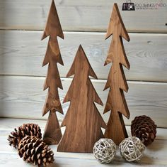 A happy accident - wood trees. How to make your own!