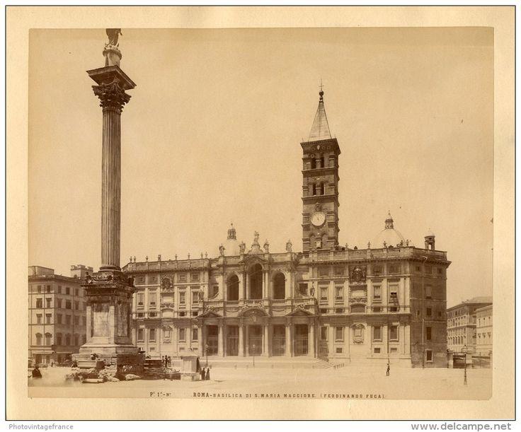 Italie, Roma, Basilica Di Santa Maria Maggiore Vintage Albumen Print.   Tirage Albuminé   20x25   Circa 1880 - Foto