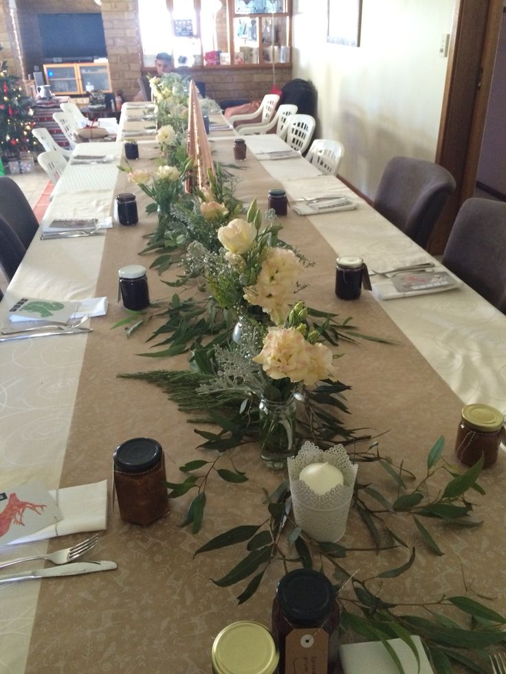 Australian natives and field flowers for an unusual Christmas table setting or perfect for a wedding