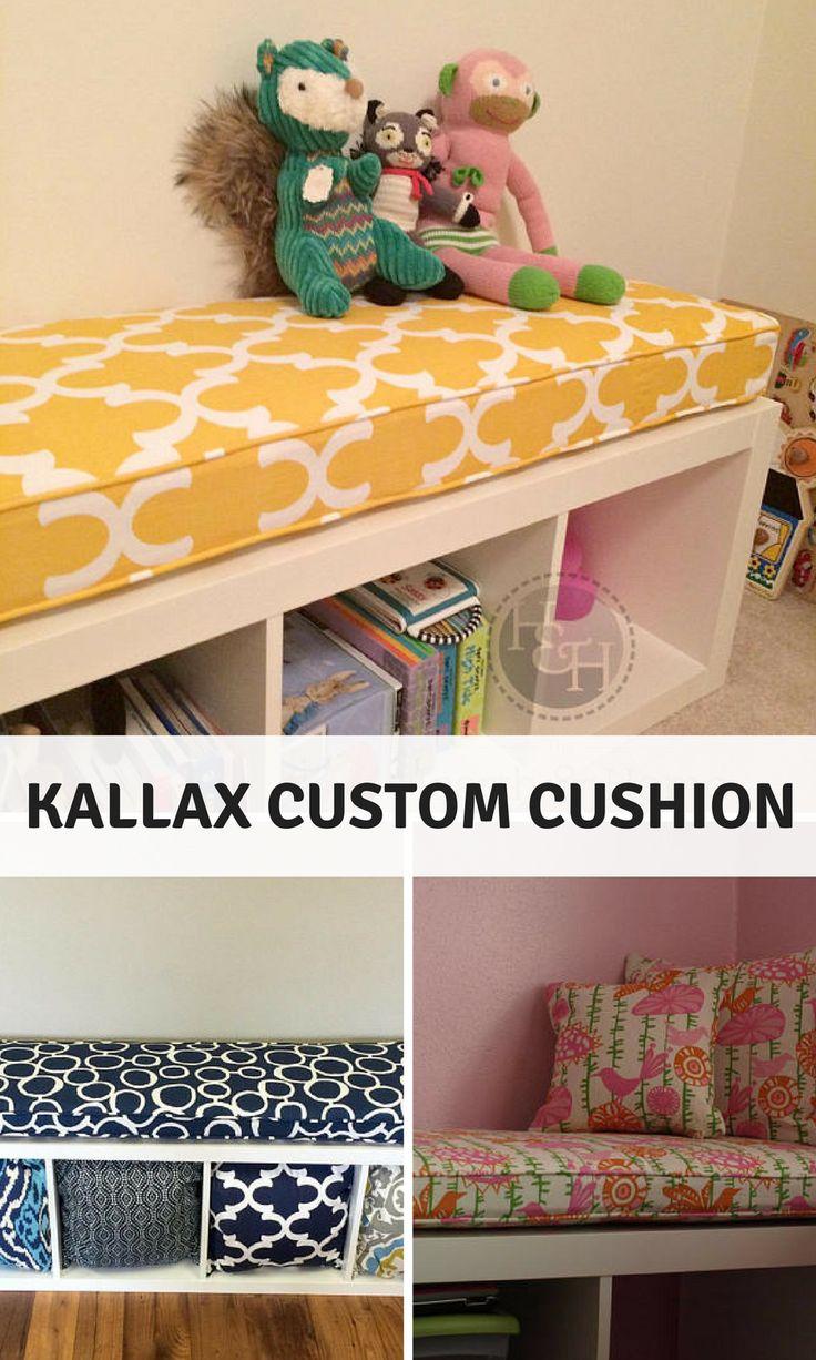 Ikea KALLAX Custom Cushion Playroom , Nursery,   Organization Bench Seat Ikea Expedit Replacment, Kallax Bench , Playroom   Cushion #organization #homedecor #affiliate