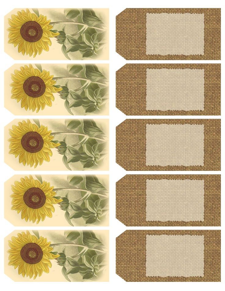 """Those Who Bring Sunshine..."" ~ Printable sheet of 10 sunflower and burlap tags"