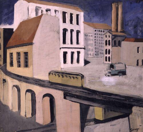 urban landscape (paesaggio urbano) / mario sironi (It. 1885-1961)
