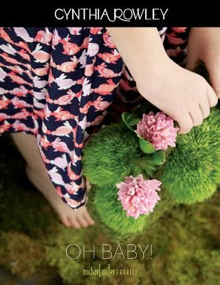 """Girl dress in Cynthia Rowley Spring """"OH BABY!"""" fabric line for Michael Miller Fabrics; photo and style by Trenna Travis Design Studio"""