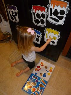 Mama to 5 Blessings - Our Homeschool Blog: SPLASH OF COLOR MAGNETIC SORTING SET BY LEARNING RESOURCES