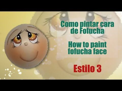 Como pintar cara fofucha 1 - How to paint fofucha face 1 - YouTube