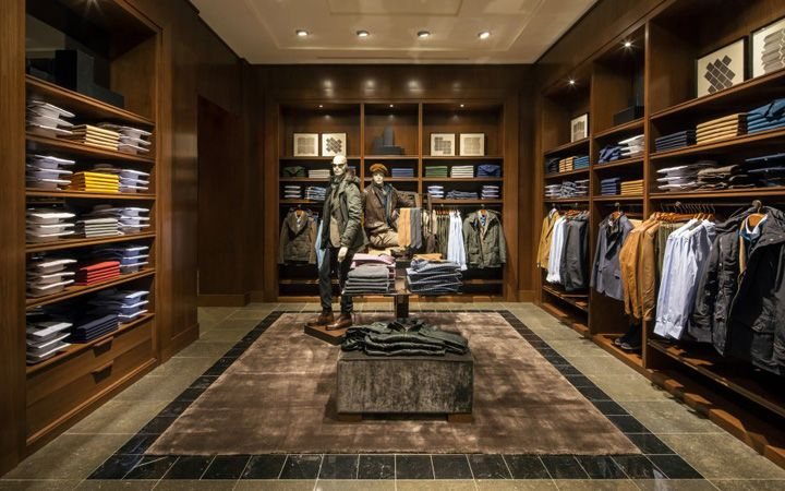 Massimo dutti store at fifth avenue new york store design - Men s clothing store interior design ideas ...