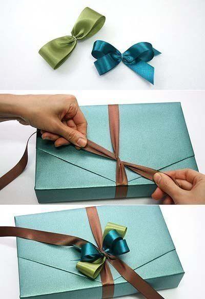 Как красиво завязать ленту на подарочной упаковке / Удивительное искусство